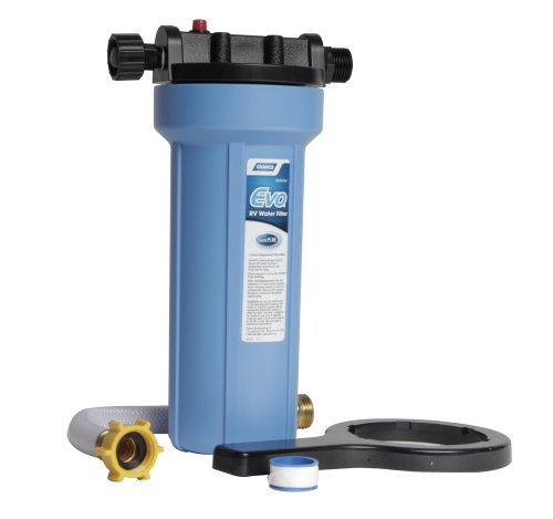 Camco EVO Premium RV/Marine Water Filter, Greatly Reduces Bad Taste, Odor, Sediment, Bacteria, Chlorine And Much More (40631), default title