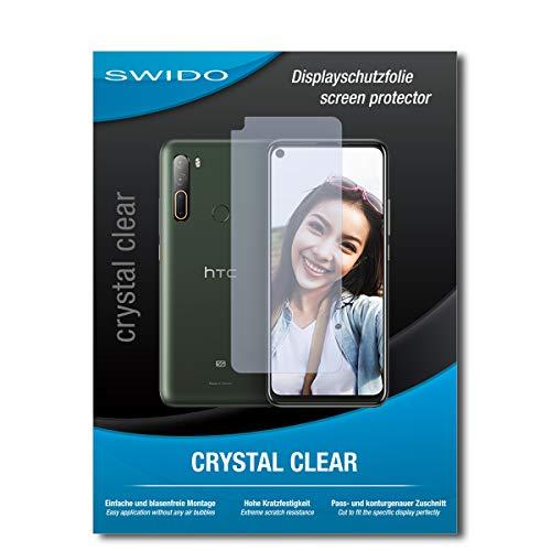 Swido - Protector de pantalla para HTC Desire 20 Pro (2 unidades, cristal transparente, alto grado de dureza, protección contra aceite, polvo y arañazos)