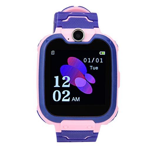 Socobeta Multifunktionale elektronische Telefon Uhr mit Beleuchtung tragbarer Wecker langlebig fur Kinder Pink