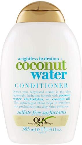 OGX, Acondicionador Hidratante de Agua de Coco, Cabellos Deshidratados, 385 ml