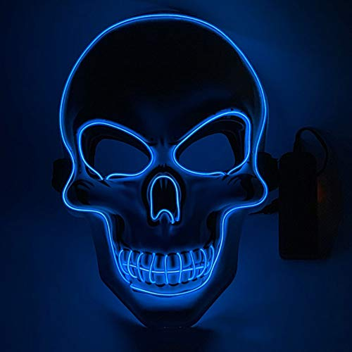 HEE Maschera di Halloween Maschera illuminante a LED per Halloween Festival Cosplay Halloween Costume Party Decorations (Mask-001)