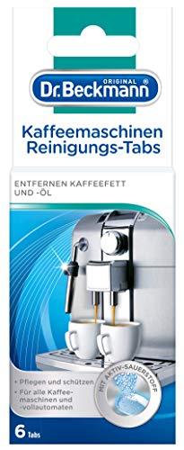 Dr. Beckmann Kaffeemaschinen Reinigungs-Tabs | entfernen Kaffeefett und -öl | mit Aktiv-Sauerstoff (6 Tabs)