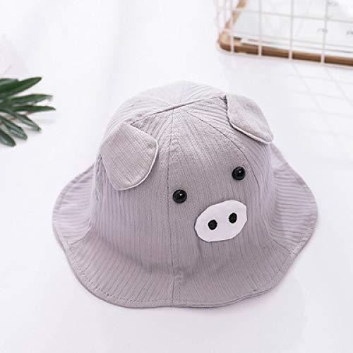 mlpnko Kinderfischer Hut süß Baby Hut Sonnencreme Sonnencreme Baby Hut grau 48-50CM