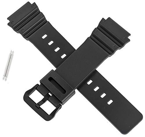 Casio 10548380 - Cinturino originale per orologio MRW-400H MRW 400H 400, colore: Nero