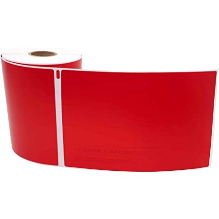 Dymo 1744907 4xl Rojo 20 Rollos 220 Etiquetas Por Rollo De Etiquetas Multiuso De Alta Visibilidad 4 X 6 Pulgadas 4 X 6 Pulgadas Sin Bisfen Office Products