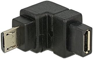 DELOCK Adapter USB 2.0 Micro-B stekker > USB 2.0 Micro-B bus schuin onder