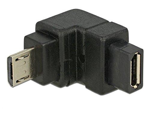DeLock Adapter USB 2.0 Micro-B Stecker > USB 2.0 Micro-B Buchse gewinkelt unten