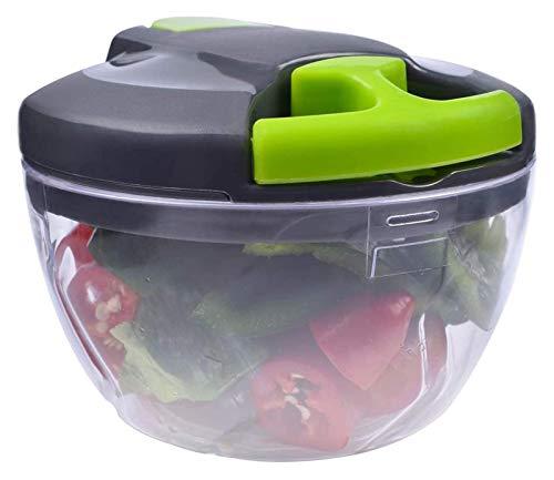 ANTINXUP Chopper Vegetal Blender Mincer para Cortar Frutas Verduras, procesador de Alimentos Manual portátil con Tapa para Ensalada, Salsa, Pesto, Guacamole, Ensalada, Comida para bebés