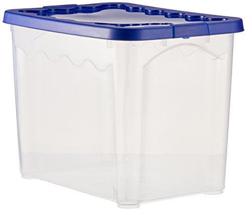 House & Style Volcan Box Storage Medium, plastique, bleu, 40 x 30 x 28 cm