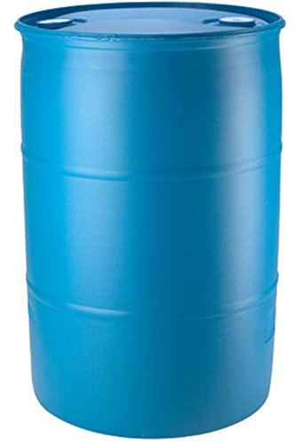 55 Gallon Blue Water Barrel | Solid Mold |2 Inch Bung Holes, Good for Long Term Drinking Water Use | BPA Free