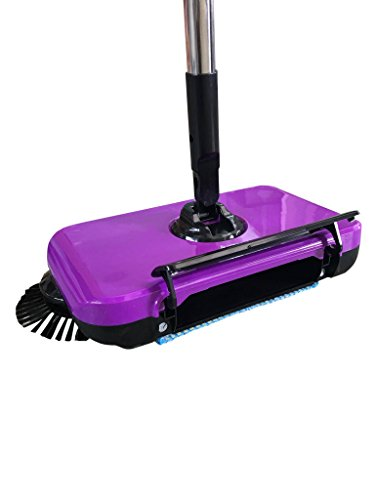 Best Deals! Cleanmate24 Sweep Dual Brush Sweeper without Electricity,Pink (Pink)