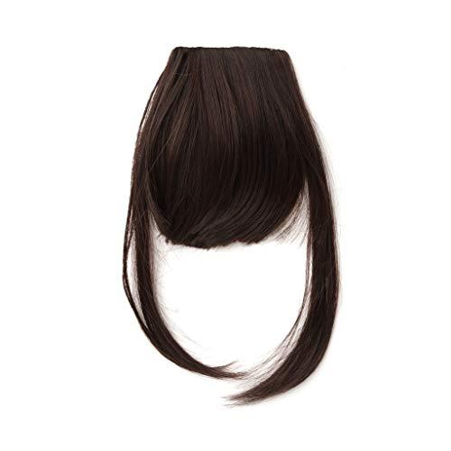 S-TROUBLE Clip dans Fringe Light Bangs Pièce de Cheveux Faux Cheveux Bangs Extensions de Franges de Cheveux Synthétiques Hairpiece Naturel