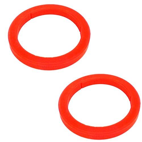 2 juntas de silicona para grupos de cerveza, E61, sello de cabeza para máquina de café compatible con Gaggia Espresso y la mayoría de las máquinas de espresso (8 mm, rojo)