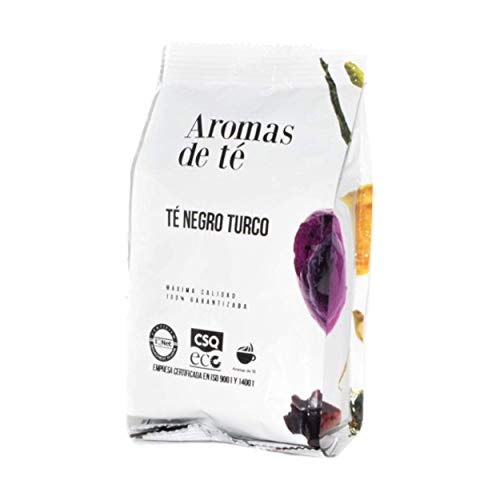 Aromas de Té | Té Negro Turco 100gr | Té Negro Digestivo y Antioxidante con Canela y Manzana de Turquía | Infusión Detox | Té Negro de Agradable Sabor y Aroma