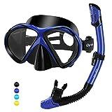 Glymnis Set Snorkeling Maschera Snorkeling Anti-Appannamento Kit Snorkeling Panoramica a 1...