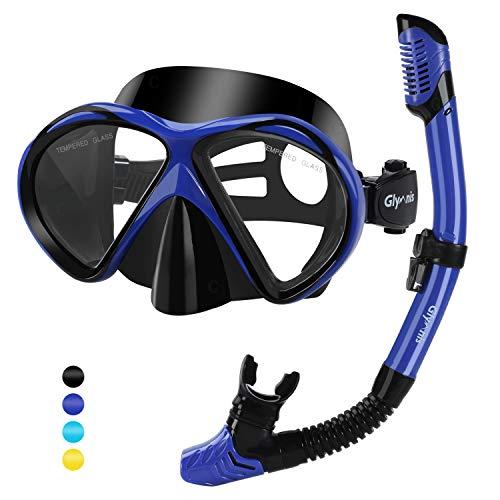 Glymnis Set Snorkeling Maschera Snorkeling Anti-Appannamento Kit Snorkeling Panoramica a...