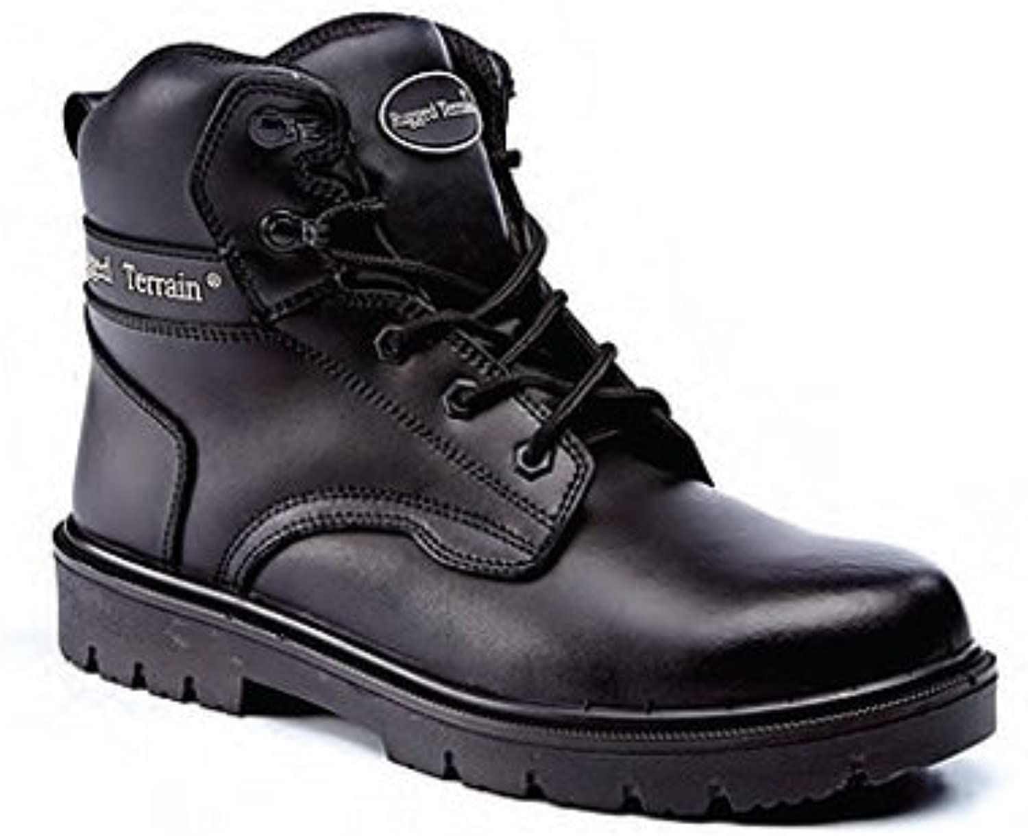 Black Leather Derby Unisex Industrial Work Boots - Choice of Sizes Available (Size 13) - Ref SFW06 13