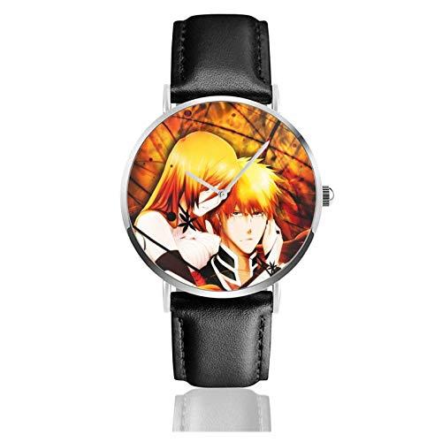 Relojes Anolog Negocio Cuarzo Cuero de PU Amable Relojes de Pulsera Wrist Watches Blanqueador