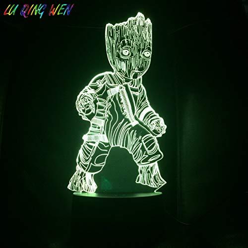 Dschungel Superheld 3D Nachtlicht Home Decoration Nachtlicht Baby Kind Geburtstagsgeschenk Comic Schreibtisch LED Nachtlicht