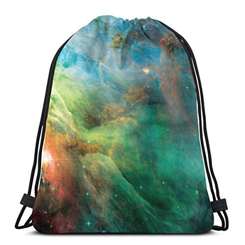LREFON Mochila con cordón para gimnasio, mochila Rainbow Orion Nebula, mochila para almacenamiento deportivo, organizador de zapatos, bolsas de regalo de baloncesto para adultos
