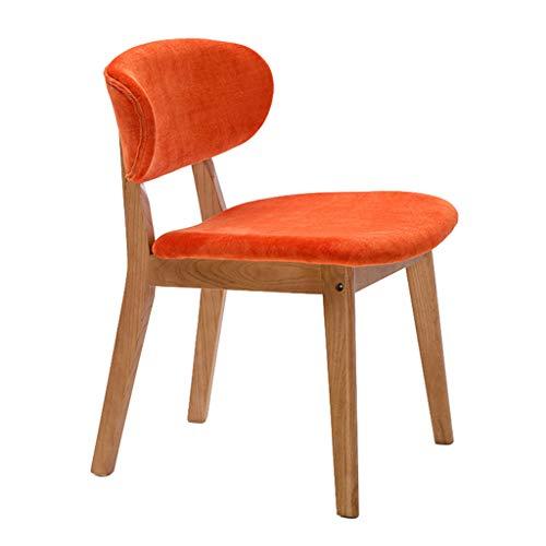Chaise Home Chaise De Réception De Loisirs avec Coussin en Flanelle Fauteuils Cabriolets (Couleur : Orange)