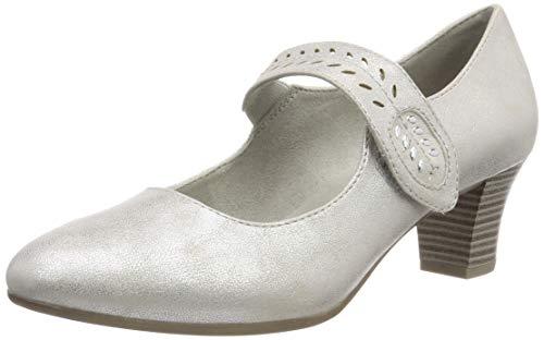 Jana Softline Damen 8-8-24462-22 Pumps, Weiß (White/Silver 191), 39 EU