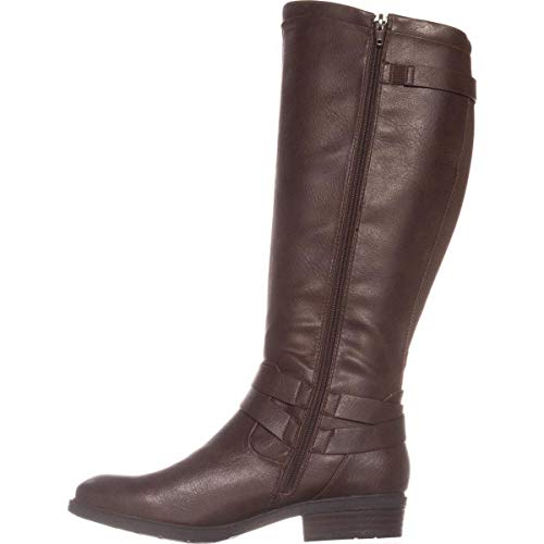 BareTraps Womens Yalina Closed Toe Knee High Riding Boots, Dark Brown, Size 5.5