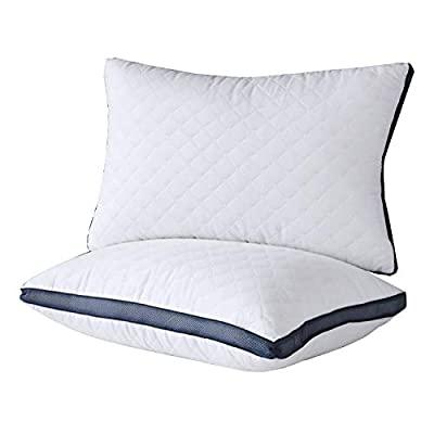 Meoflaw Pillows for Sleeping(2-Pack), Luxury Hotel Gel Pillow,Bed Pillows for Side and Back Sleeper (King)