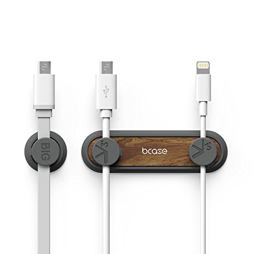 Iitrust USB Kabelhalter | Magnetisch Kabelclips für Schreibtisch Netzkabel, USB Ladekabel, Ladegeräte, Audiokabel, Kopfhörer Kabel (Braun)