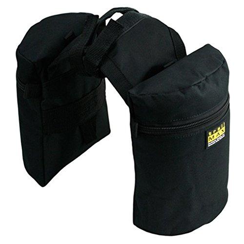 Trailmax Junior - Alforjas para silla con cuerno - Equipaje para silla vaquera de cowboy - Negro