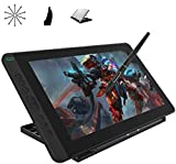 2020 HUION Kamvas 13 Android Support Graphics Drawing Tablet Monitor with Full Laminated Screen Battery-Free Stylus 8192 Pressure Sensitivity Tilt 8 Express Keys Adjustable Stand -13.3 inch, Black