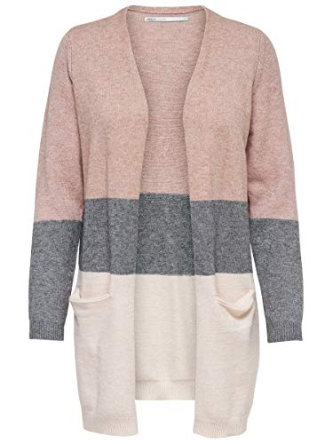 ONLY Damen Strickjacke Long XLMisty Rose 1