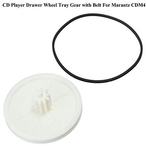 BAQI A Set CDM-4 Reproductor de CD Bandeja de Rueda de cajones Engranaje y Correa para Marantz CD72MKII Philips CDM4