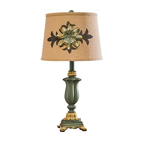 Lámparas de Escritorio Lámpara de mesa tradicional Tela de lino Pantalla tallada a mano, adecuada for sala de estar/dormitorio Lámpara de Mesa (Color : B)