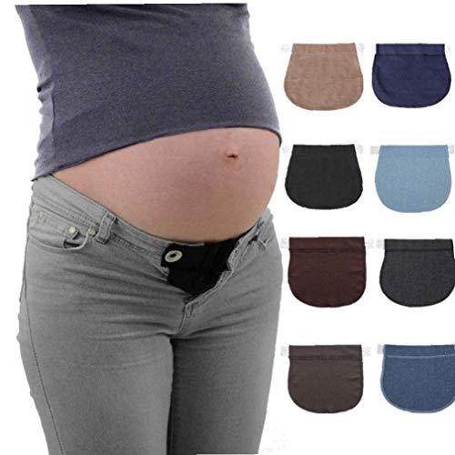 BYFRI 1 Stuk Verstelbare Zwangere Vrouwen Riem Zwangerschap Ondersteuning Zwangere Vrouwen Zwangere Riem Elastische Taille Extension Broek Kleding Accessoires