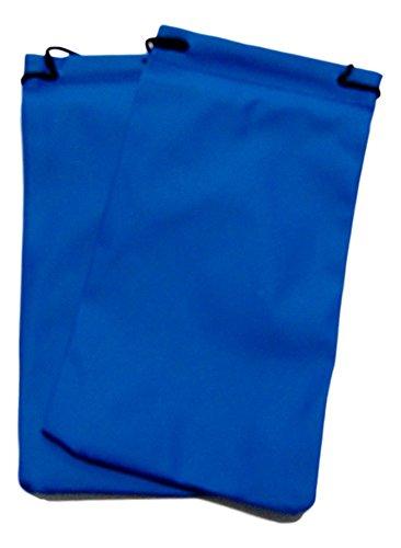 2x Sunglasses Pouches Spectacles Glasses Pouch Case Wallet Drawstring Bag (Blue)