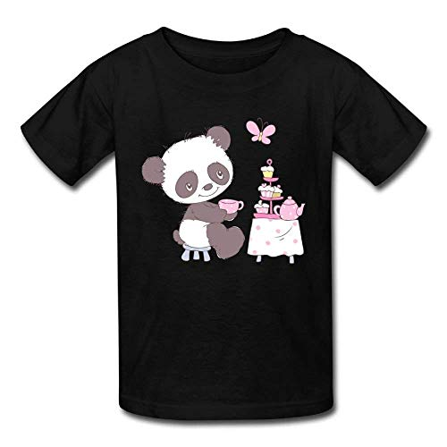 Kids Short Sleeve Tee Little Panda Cake for Baby Girls Boys