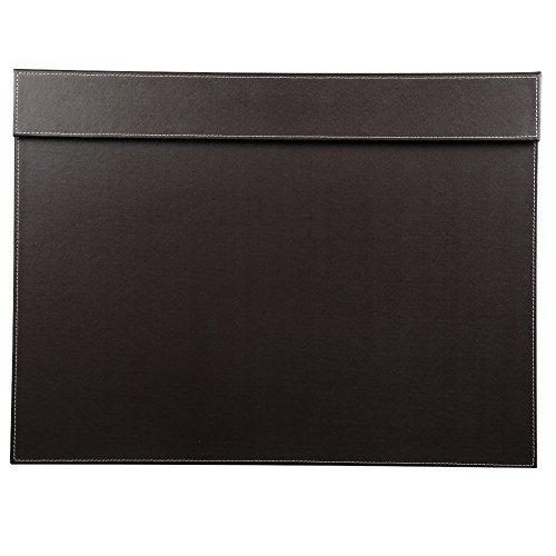 KINGFOM - Vade de escritorio, 600 x 450 mm, piel de alta calidad, color marrón