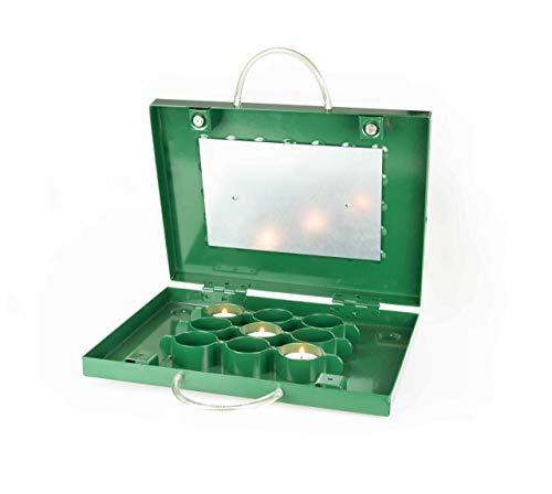 EUROHUNT Teelichtheizung - Fuß- und Kanzelheizung Heizung, Grün, ca. 30 cm x 28 cm x 5 cm