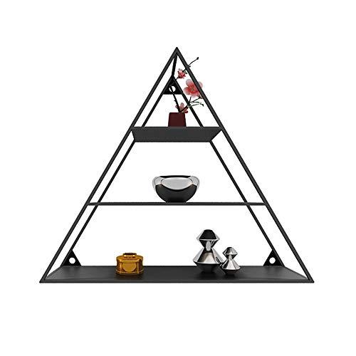 XMGJ Estante de Pared, Estante de Pared Minimalista Europeo de pirámide de Personalidad de Hierro Forjado estantería de Pared