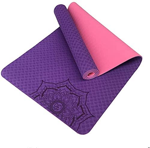 LSLS Esterilla De Yoga 6 mm espesos alfombras de Yoga Principiante Antideslizante protección Ambiental Fitness Mat Pilates y colchonetas Esterilla Fitness (Color : G)