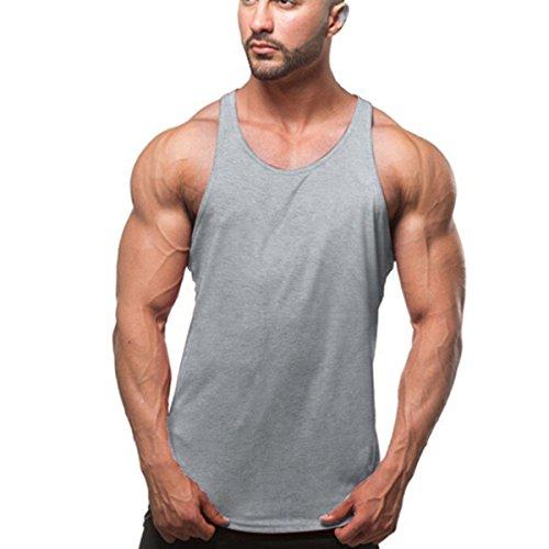 Butterme pour homme - T-shirt sans manches de type Marcel pour le sport et la musculation