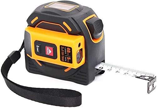 Misuratore a distanza laser digitale, misura del nastro laser, nastro di misurazione metrico solo professionale, misurazione del nastro con display a disposizione del nastro LCD Misura 2-in-1, 40m / 6