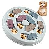 HQdeal Juguete de puzle para Perro,Comedero de Perros Tazón de Mascota alimentador Lento Antideslizante Divertida Anti-Gulping Ayudar a la Digestión para Perros y Gatos pequeños Ralentizar la Comida