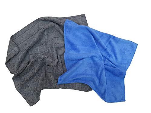 Magisches Tuch aus 100 % Mikrofaser für Auto, Motorrad, Küche, Glas, 2 Stück
