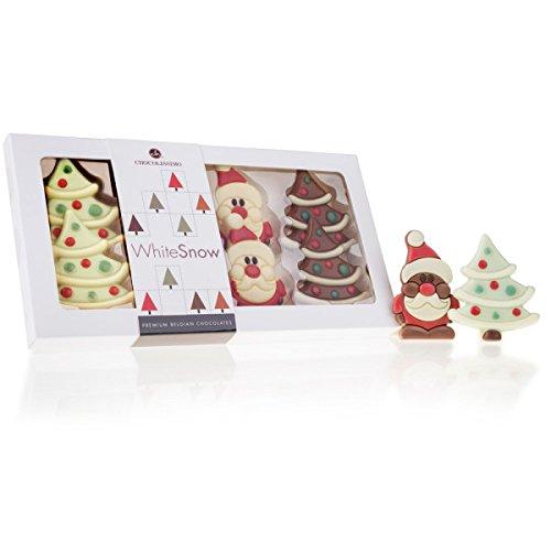Xmas Time - 8 Schoko-Täfelchen zu Weihnachten | 4 Weihnachtsmann | 4 Weihnachtsbaum | Schokolade | Weihnachten | Weihnachtsschokolade | Weihnachtsgeschenk | Kinder und Erwachsene