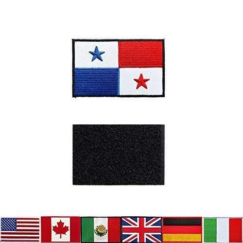 2 Stück Taktische Aufnäher Stickerei Panamanische Flagge, für Rucksäcke, Jacken, Hosen, bestickte Armbänder der Militär-Armee-Uniform-Embleme, perfekte Dekoration.