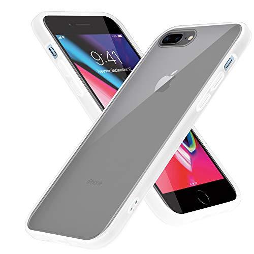 Cadorabo Funda Compatible con Apple iPhone 6 Plus / 7 Plus / 8 Plus en Mate Transparente - Funda para teléfono móvil con Interior de Silicona TPU y Parte Trasera de plástico Mate