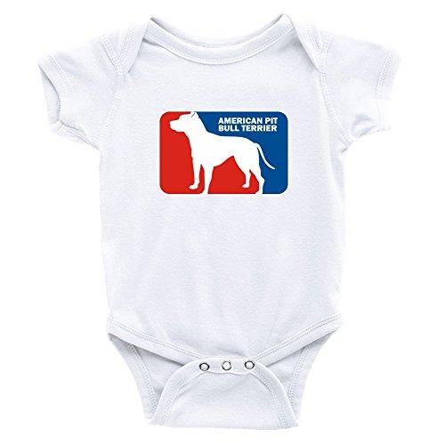 Teeburon American Pit Bull Terrier Sports Logo Body de bebé