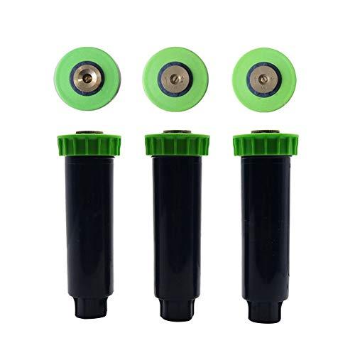 DIY Verteilerrohr, Wasserspar Kit für Landsc 5 PC Einstellbare Pop Up Sprinkler mit 1/2 Zoll Innengewinde 90-360 Grad automatisch versenkbare Rasen Bewässerung-Sprenger (Color : 180 degrees)
